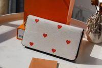 M57491 jeu sur zippy portefeuille pop couleurs de haute qualité porte-cartes portefeuille avec fleurs coeur poussièrebag et boîte nouvelle m80305 zippy monnaie sac à monnaie