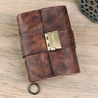 Retro A7 A6 Pocket Leather Notebooks Journals Diary Book with Password Lock Office School Supplies Creative Stationery BJB27