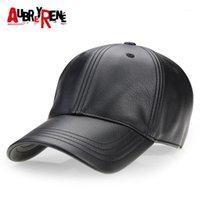[Aubreirene] 2020 Nuovo Cappello da baseball in pelle PU Winter PU Uomo Cappelli classici per uomo Bone Masculino Z-26581