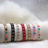 Zhongvi 2021 Miyuki Frauen Weberei Armband Herz Verstellbare Schmuck Freundschaft Boho Bunte Zirkon Armbänder Gift Großhandel