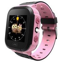 GPS الأطفال الذكية ووتش المضادة لخسارة المصباح الطفل الذكية ساعة اليد SOS دعوة الموقع جهاز المقتفي كيد آمنة مقابل Q528 Q750 Q100 Q42 DZ09 U8