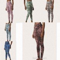 Lu Kadın Yoga Pantolon Yüksek Bel Spor Salonu Giymek Renk Nefes Streç Sıkı Pantolon Skinny Tayt Atletik Joggers Pantolon VFU T9N7 #
