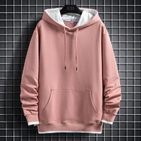 Hoodie Casual O-pescoço Pullover Thick Fleece Men's 2020 Hip Hop High Street Roupa