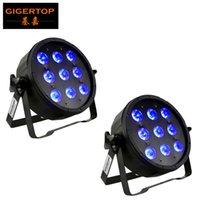 9x6W Par RGBWA UV 6in1 düz par Can Par 64 led spot dj Düğün ışık sahne ışık dmx512 kontrolünü led ışıklar led