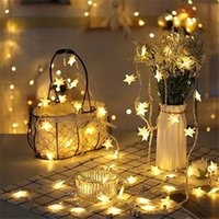 Star LED light wreath, 10 20 40   80, battery powered Christ...