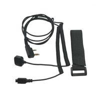 Casques de moto Headsets de casques d'interphone Poignée de commande de doigt Câble K Port Fil de connexion radio bidirectionnelle pour T-MAX R1 R1 Plus M2 M31