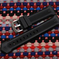 Fashion famous brand silicone rubber strap waterproof watch strap for How Lincoln | Monaco | Carrera 22mm black