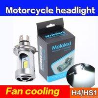 1 Adet Motosiklet Ön Işık H4 18W LED YAMAHA HONDA Motosiklet Far COB Ampul 3000LM 6000K Hi / Lo Işın Işık