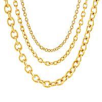 Correntes cor prateada / de ouro cadeia de aço inoxidável para jóias fazendo 4/6 / 8mm colar Rolo pelo medidor Link sem fecho