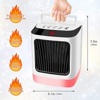 7 noche color ajustable mini calentador del escritorio de la luz del ventilador del calentador portátil para la seguridad del uso eléctrico de cerámica del calentador de espacio