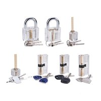 7-Piece Practice Lock Set for Beginner and Pro Locksmiths, 7 Pack Transparent Padlock Training Tool