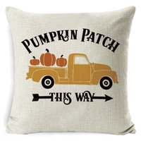 Halloween Pumpkin Sofa tiro federa stampato copertura plaid federa Pillowslip Per Office Car Home Decor DHD2109