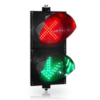 2x200mm Cruz Vermelha Verde seta LED luz de sinal de tráfego para temporada de pedágio1