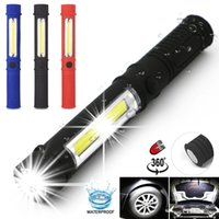 Mini Portable LED Flashlight Working Inspection Torches COB LED Multifunction Maintenance Torch lamp With Magnet 3A Battery Operatio