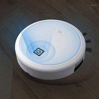 USB شحن ذكي كسول روبوت لاسلكي مكنسة كهربائية كاسحة فراغ نظافة الروبوتات السجاد المنزلية تنظيف أبيض 1