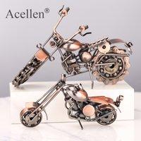 دراجة نارية نموذج الرجعية موتور تمثال المعادن الديكور اليدوية الحديد دراجة الدعامة خمر المنزل dastop ديكور كيد لعبة T200703