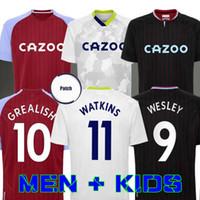 Villa Soccer Jerseys 20 21 Home Grealish M. Trezeguet Aston Wesley El Ghazi Hourihane Douglas McGinn Barkley Watkins 2020 2021 Man + Enfants