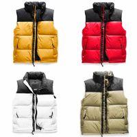 최고 노스 망 조끼 4nch 아이콘 1996nutse 겉옷 코트 의류 검은 노란색 빨간색 핑크 여자 다운 먼지 가방 태그