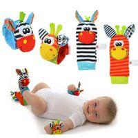 아기 딸랑이 장난감 손목 발사원 0-12 개월 동안 작은 부드러운 아기 소년 장난감 어린이 유아 신생아 봉제 양말 Brinquedos