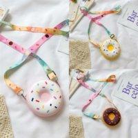 DzXXU Sonnenuntergang Zuolan Bag White Anhänger Luxus Handtasche Klassisch Neueste Nette Farbe Donuts Frauen Umhängetasche Kette Tasche Zahnstocher Leder Muster