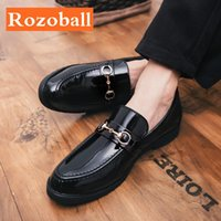 Robe Chaussures Hommes Cuir Formel Casual Fashion Business Shoafers Plat Mocassins Conduite Drop Rozoball