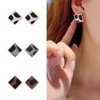 Pendientes cuadrados de la vendimia para las mujeres joyería coreana simple leopardo geométrico leopardo impresión oreja accesorios de oreja pendientes nuevo