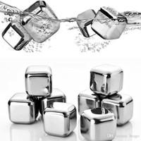 Bar accessoires refroidisseur de vin Grade 304 en acier inoxydable Whisky Stones en acier inoxydable Glafe Cube Metal Boisson Cube Glace VT0352