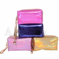 Maquiagem Beauty Laser Cosmetic Bag carta Holograma Cosmetic Bag Make Up Bags grande capacidade de armazenamento impermeáveis ​​Wash Tolitery Bag 5 cores