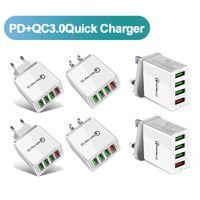 Новая быстрая зарядка 3.0 4.0 USB зарядное устройство 3.1A быстрый настенный зарядное устройство для мобильного телефона для 4 портов адаптер QC 3.0 зарядное устройство