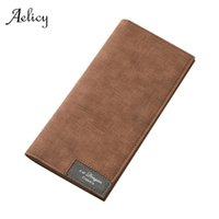 Aelicy Vintage Men Wallet Male Slim Pu Leather Bifold Business Long Wallet Card Coin Hasp Money Purse Bag Cartera Hombre