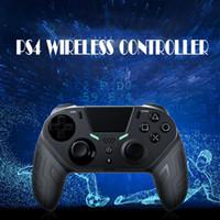 PS4 컨트롤러 용 엘리트 판 무선 블루투스 컨트롤러 Gamepad 버튼 PlayStation 4 / PS4 Pro / Slim 및 PC 용 Gamepad 버튼 프로그래밍 가능 조이스틱
