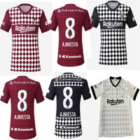2020 Japão Vissel Jersey Jersey David Villa A.iniesta Camisas de futebol Podolski uniforme de samper 20 21 Adulto Camiseta de Iniesta