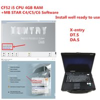 Toughbook CF52 I5 4GB Laptop with MB STAR C4 C5 C6 Soft-ware installed well in HDD SSD work for diagnostic c5  c4 tools