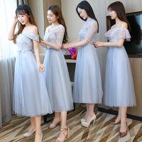 Embroidery Long Bridesmaid Dresses New Summer Wholesale Sister Wedding Party Prom Bridal Plus Size Vestidos De Festa 960