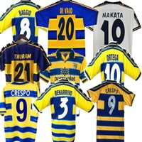 parma retro soccer Jersey Home CRESPO 95 97 98 99 00 01 02 03 BAGGIO CRESPO CANNAVARO Football shirt STOICHKOV THURAM futbol