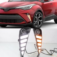 1 par para Toyota CHR CHR 2020 2021 Car LED DRL Daytime Running luz com virar amarelo lâmpada dinâmico nevoeiro Signal Daylight