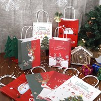 Expédition rapide! Sacs de papier Kraft de Noël Noël Sacs Sacs Cadeaux Cadeaux Personnalisé Sacs Cadeau Christmas Cadeau Emballage Sacs En Stock A12