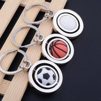 3D Spor Anahtarlık Dönen Basketbol Futbol Golf Anahtarlık Anahtarlık Hediyelik Eşya Kolye Anahtarlık Anahtar Topu Hediyeler WY1051