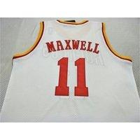 Alter # 11 Vernon Maxwell 1993-97 Mesh Vintage College Bsaketball Jersey Größe S-4XL oder benutzerdefinierte Name oder Nummer Basketball Jersey