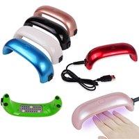 가정용 미니 휴대용 USB 9W 100-240V UV LED 매니큐어 램프 젤 네일 드라이어, 미니 친환경 에너지 절약 네일 기계