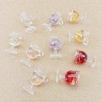10шт 17x18 мм чашки чашки бокал шарм для ювелирных изделий изготовление моды браслет плавающие чары1