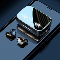 TWS M9-17 Bluetooth wireless Auricolari Bluetooth 5.1 Touch Stereo Sound Sports Auricolari Digital Display digitale IN-EAR IPX7 impermeabile Cuffie di potenza a LED