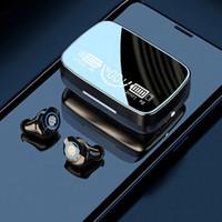 TWS M9-17 무선 블루투스 이어 버드 5.1 터치 스테레오 사운드 스포츠 이어폰 디지털 디스플레이 이어 IPX7 방수 LED 전원 헤드폰