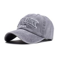 غسلها ماركات عالمية- oZyc الرمال 100٪ القطن قبعة البيسبول كأب للنساء الرجال خمر أبي قبعة NEW YORK إلكتروني التطريز في الهواء الطلق القبعات الرياضية