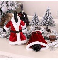 2021 Kreative Weihnachtsfest-Verzierung Weinflasche Cover 2 Design Mode Xmas Party Hauptdekorationen Supplies Bevorzugungsgeschenke LY11113