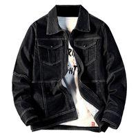 Idopy haute qualité Men`s Denim Veste noire multi poches Fashion Jeans Veste et manteau Homme