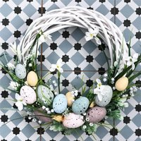 2x3cm 3x4cm Happy Pasqua decorazione uovo fiore artificiale per la festa di casa fai da te artigianato bambini regalo favore favorire la decorazione di Pasqua forniture EWB4851