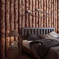 Sfondi Imitazione GRANELLO DI GRANELLO DI GRANELLO DI GRANELLO 3D Retro Nostalgic Wood Log Log Seasulty Board Simulated Board Pattern Gein Restaurant