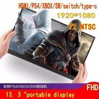 """Moniteurs 13.3 """"Affichage mobile portable Portable Secondeur de commandes externe peut être connecté à la console de jeu de la console PS4 de la console PS4"""