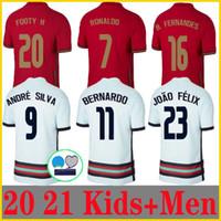 20 21 Роналдо футбол для футболки национальная команда Joao Felix 2020 2021 BERNARDO PORTUGAL B.FERNandes Camisa de futebol Men Kids Kit Футбольные рубашки